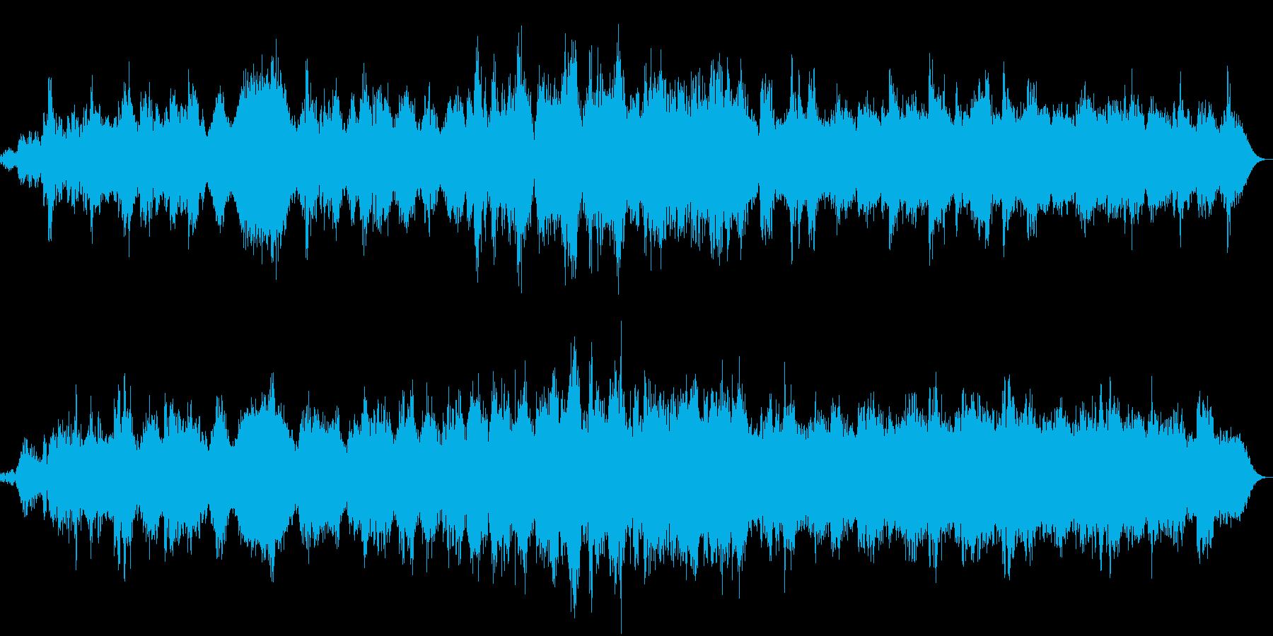 神秘的 瞑想やマインドフルネス用の曲の再生済みの波形