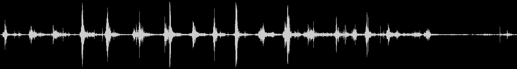 足跡ブートグラベルランfの未再生の波形