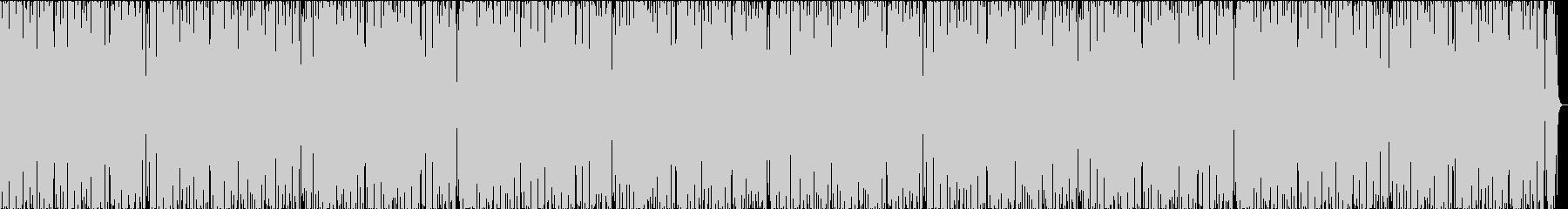トーク番組などに、軽快でポップなピアノの未再生の波形