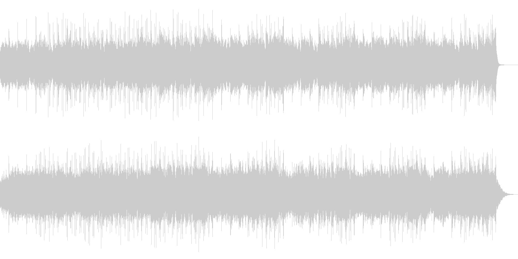 幻想的で浮遊感のあるクールなBGMの未再生の波形