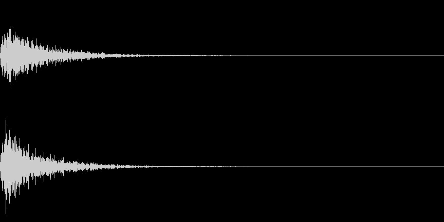 カン!和風な歌舞伎の床音(附け木)02の未再生の波形