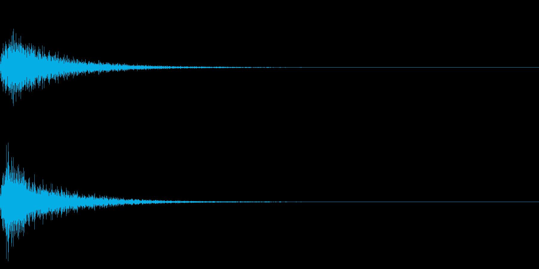 カン!和風な歌舞伎の床音(附け木)02の再生済みの波形
