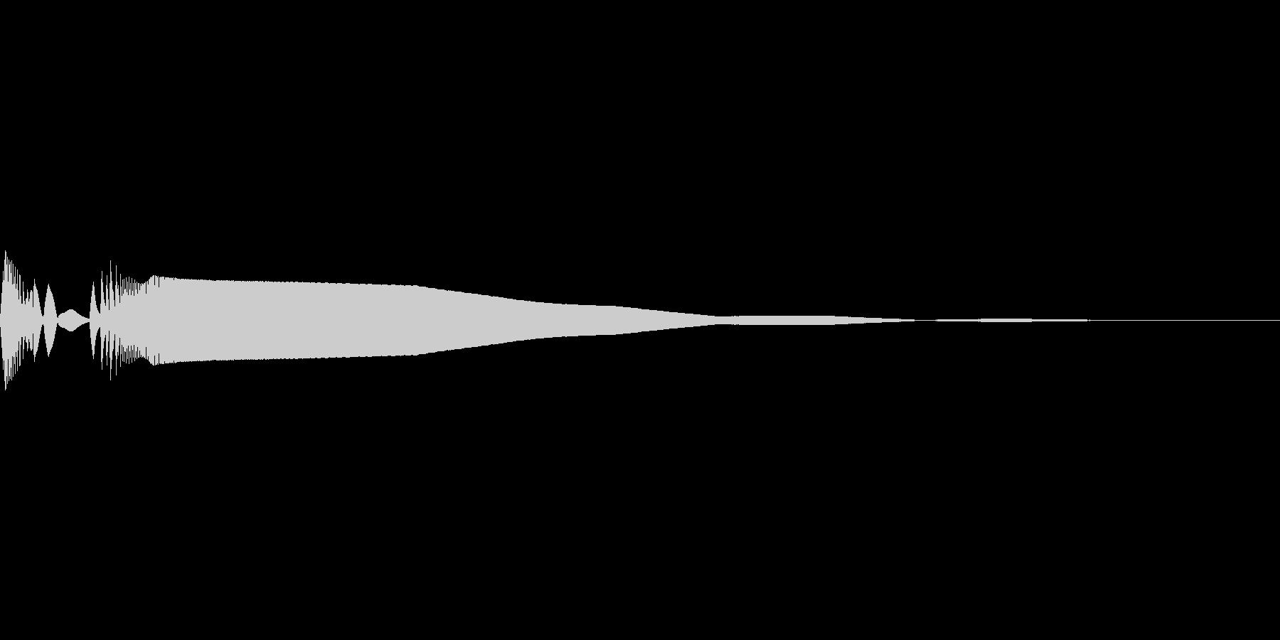 びっくりマークが頭上に現れる「グポーン」の未再生の波形