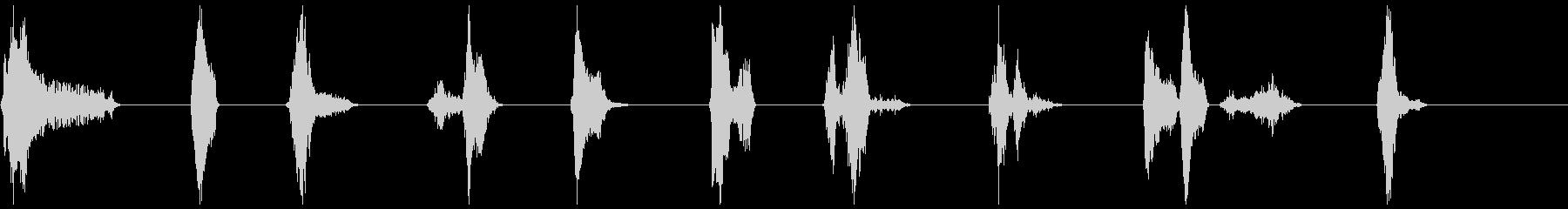 単一ボーカルの影響、男性31〜40の未再生の波形