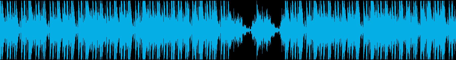 ジャジーなヒップホップのループの再生済みの波形