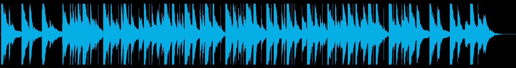 儚げで寂しげなオルゴール楽曲の再生済みの波形
