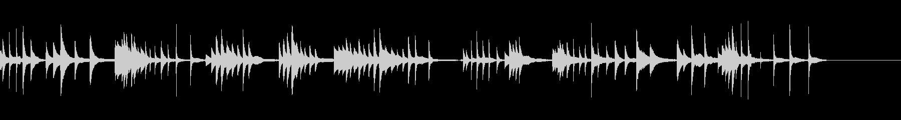 きらびやかで感動的なピアノソロ楽曲の未再生の波形