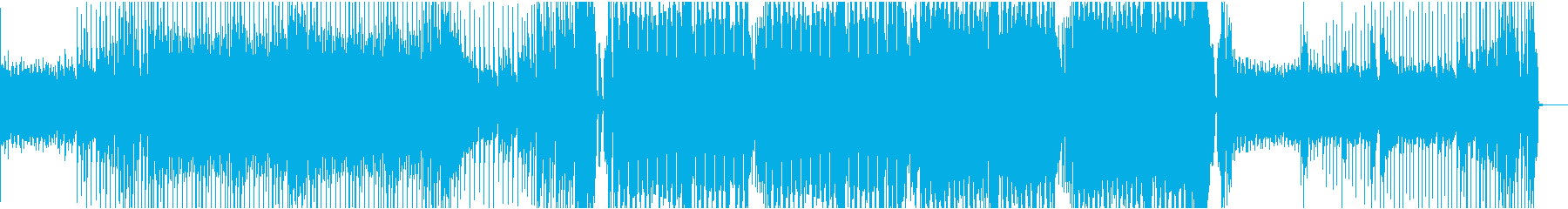 不気味なベースハウスの再生済みの波形