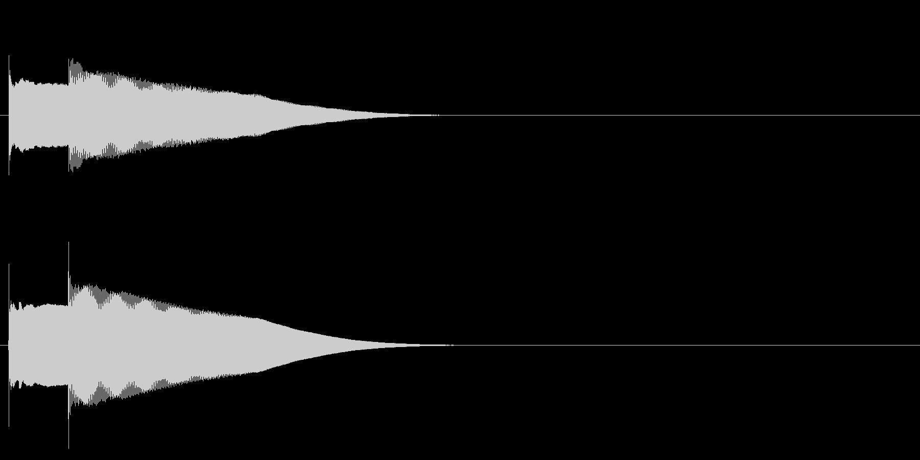 グロッケン系 決定音04(小)の未再生の波形