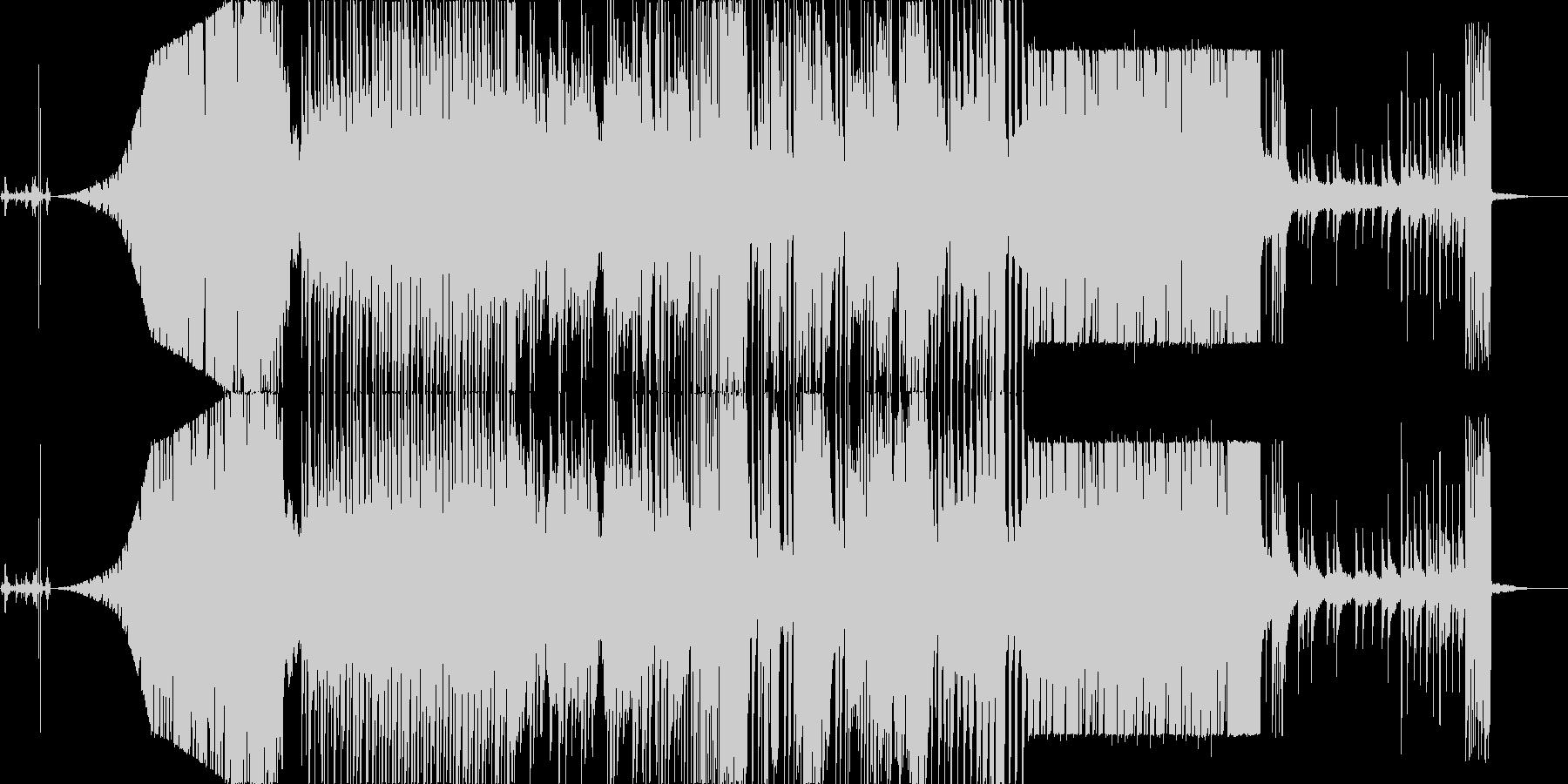 海の中をイメージした曲ですの未再生の波形