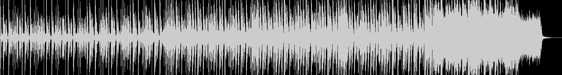 コミカルなピチカートとストリングスの曲の未再生の波形