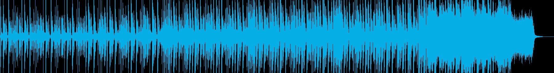 コミカルなピチカートとストリングスの曲の再生済みの波形