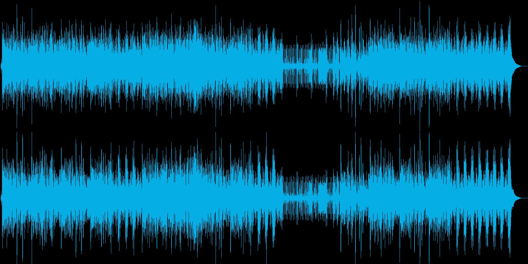 爽やかなコンガ入りピアノジャズマンボの再生済みの波形