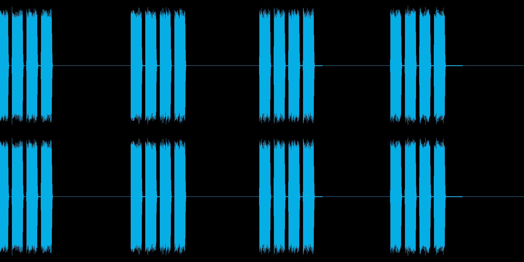 目覚まし/ピピピピッ/アラームの再生済みの波形