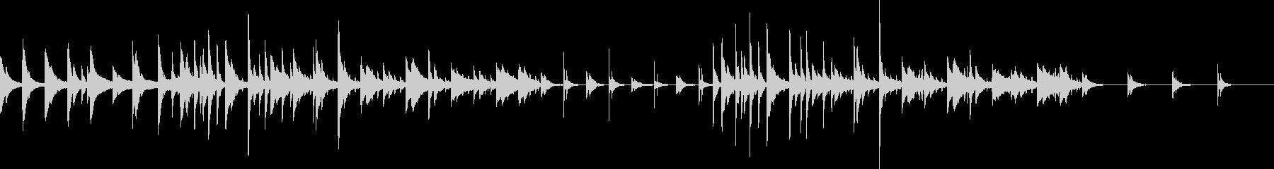 悲しい感じのするピアノ曲の未再生の波形