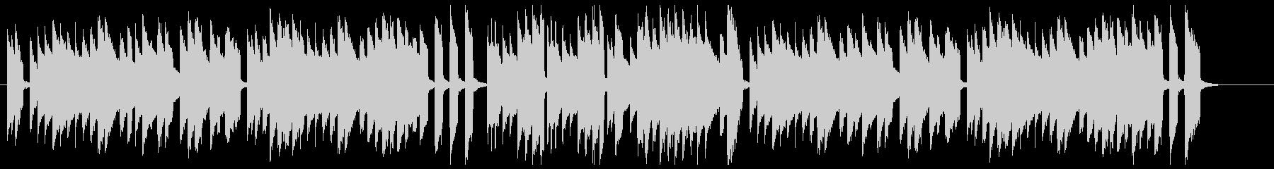 チェンバロによる高貴なバロック音楽の未再生の波形