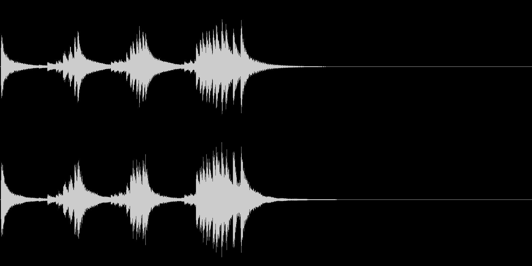 小型の鐘「本つり鐘」のフレーズ音4+Fxの未再生の波形