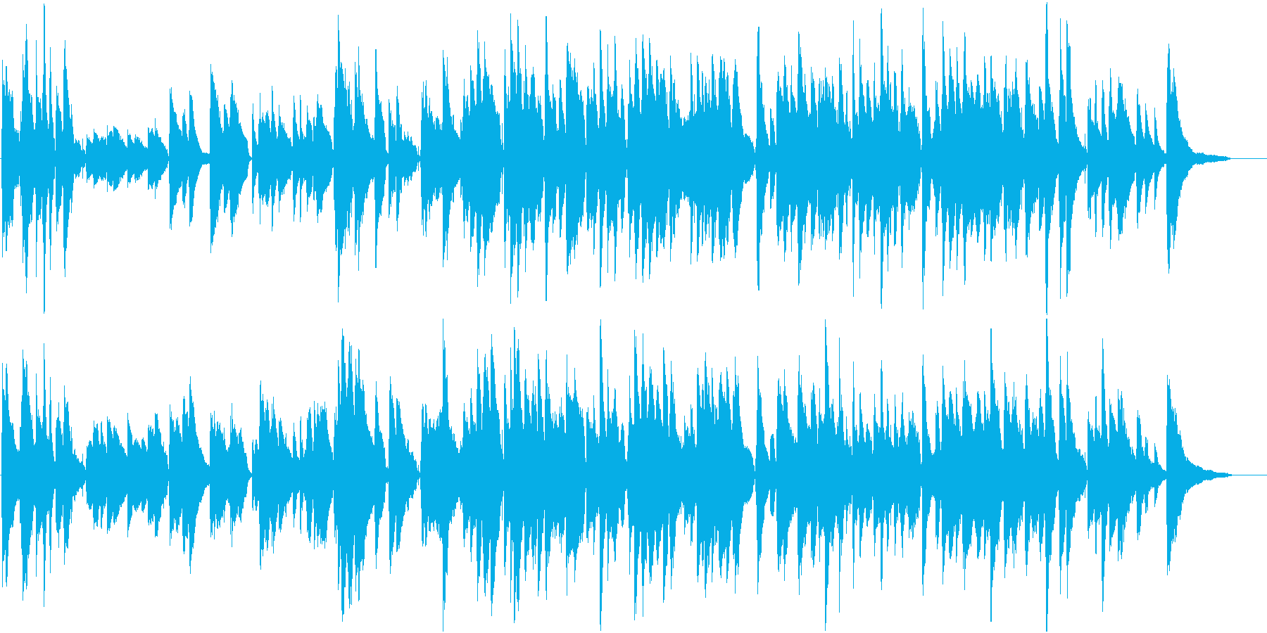 フランスパリのロマンチックなワルツ伴奏版の再生済みの波形