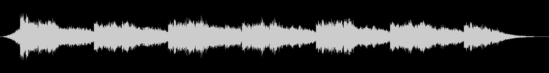 マイナー調のシンプルなピアノのフレーズの未再生の波形