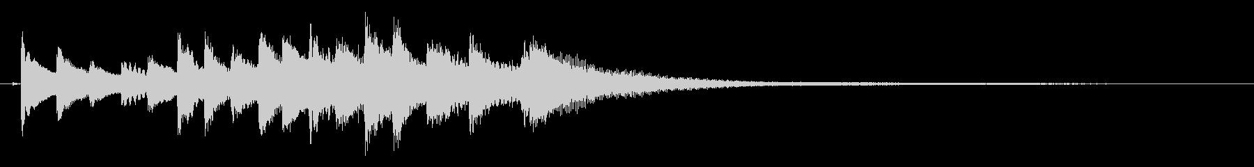 和風 シンプル 琴のジングル3の未再生の波形