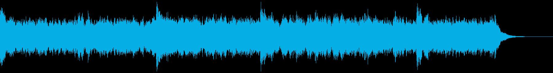 地底のダンジョンをイメージした重厚な曲の再生済みの波形