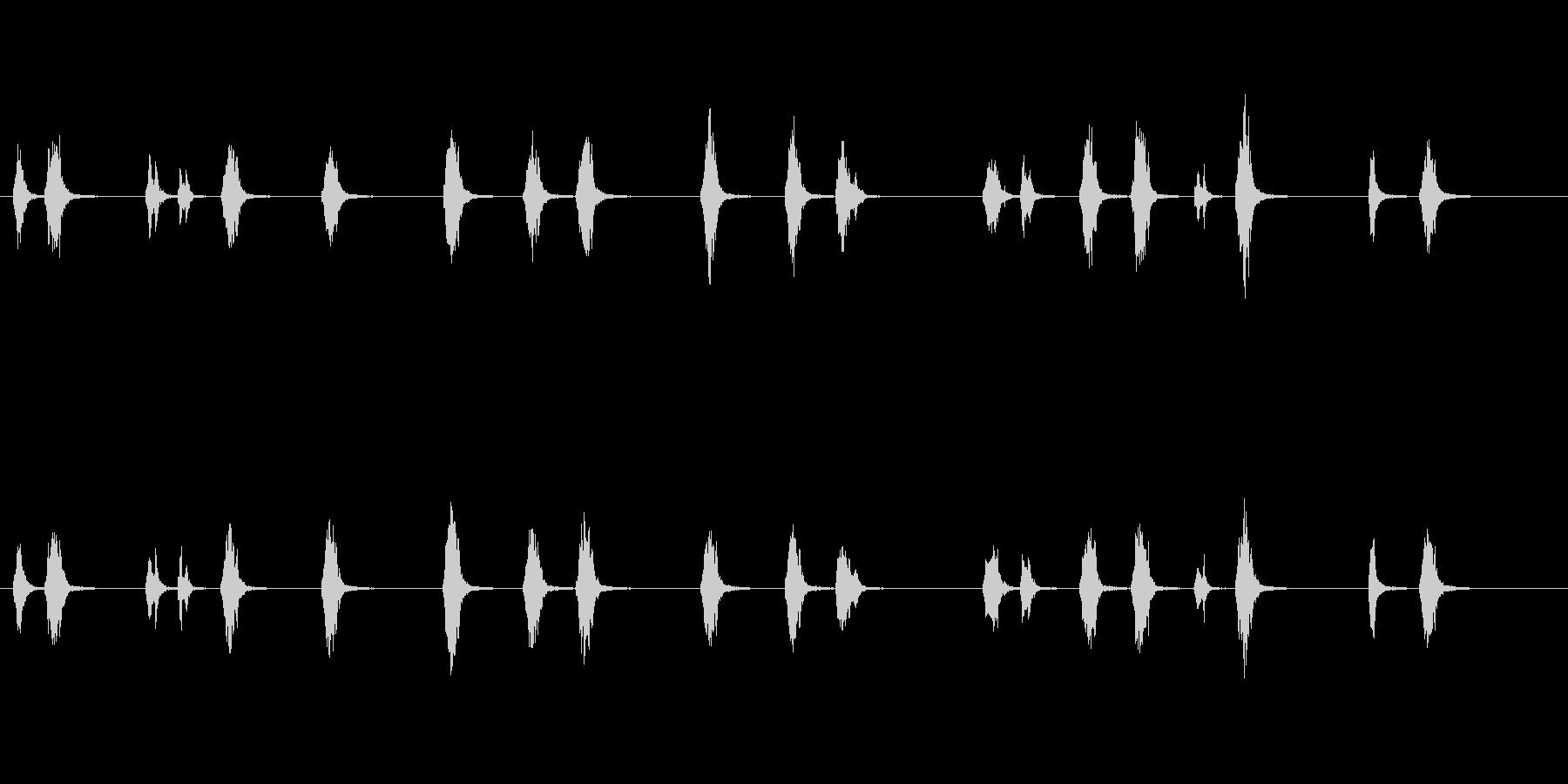 朝、聞こえる小鳥の声「チュンチュン」の未再生の波形