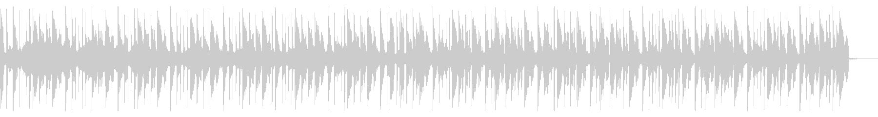 スイープ、140 BPMの未再生の波形