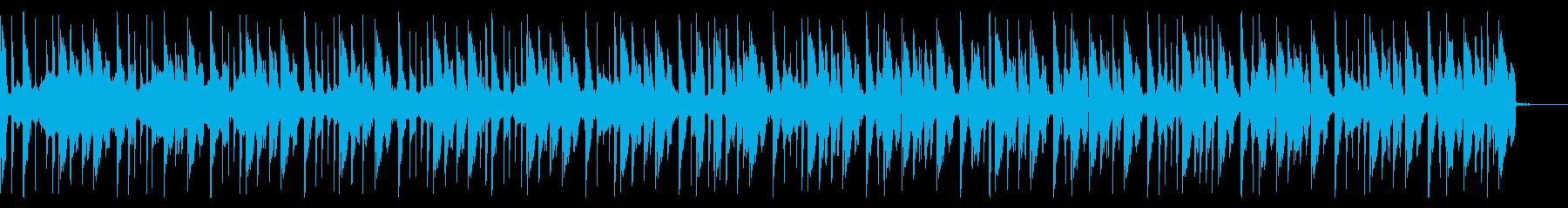 スイープ、140 BPMの再生済みの波形