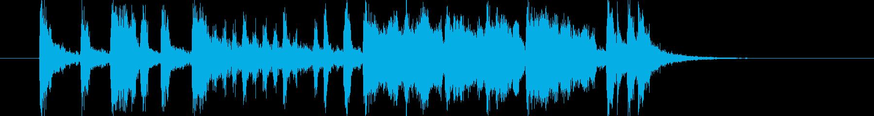 派手でファンキーな10秒ブラスジングルの再生済みの波形