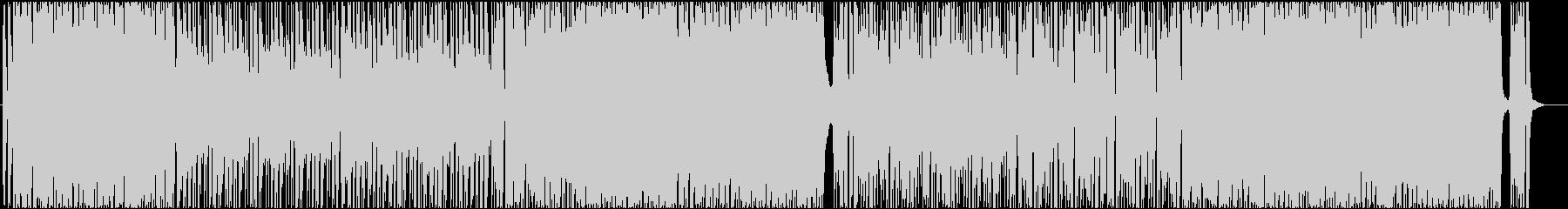 バンドサウンドのかっこいいロックBGMの未再生の波形