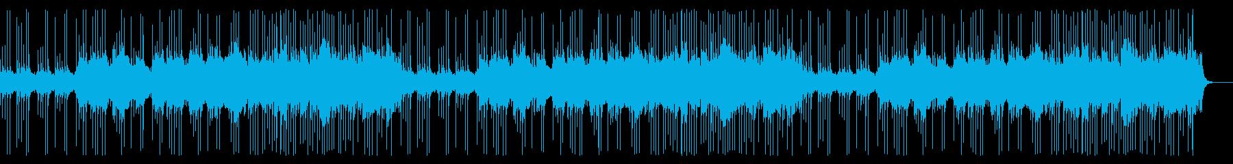 琴や尺八が印象的なゆったりとした和風曲の再生済みの波形