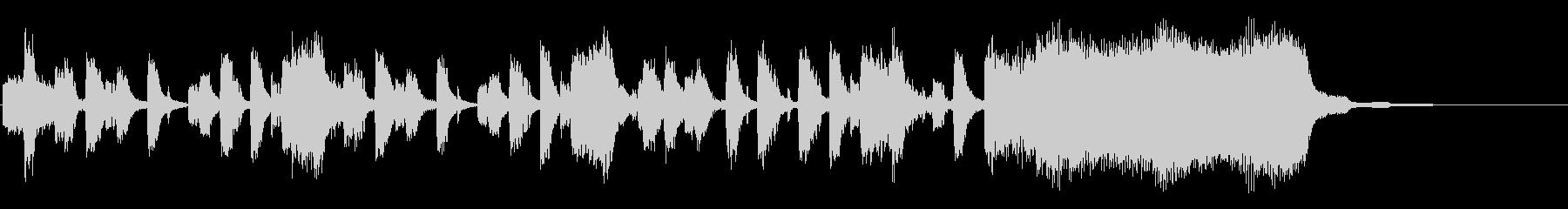 リズムが特徴的なシンセのジングルの未再生の波形