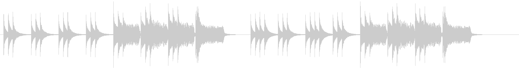 「草原の夕焼け」のイメージの未再生の波形