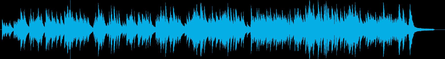 優しい感じのピアノ曲、1分40秒程度あ…の再生済みの波形