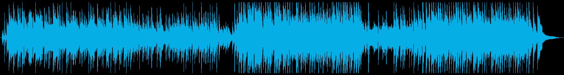 悲しいアコースティック曲の再生済みの波形