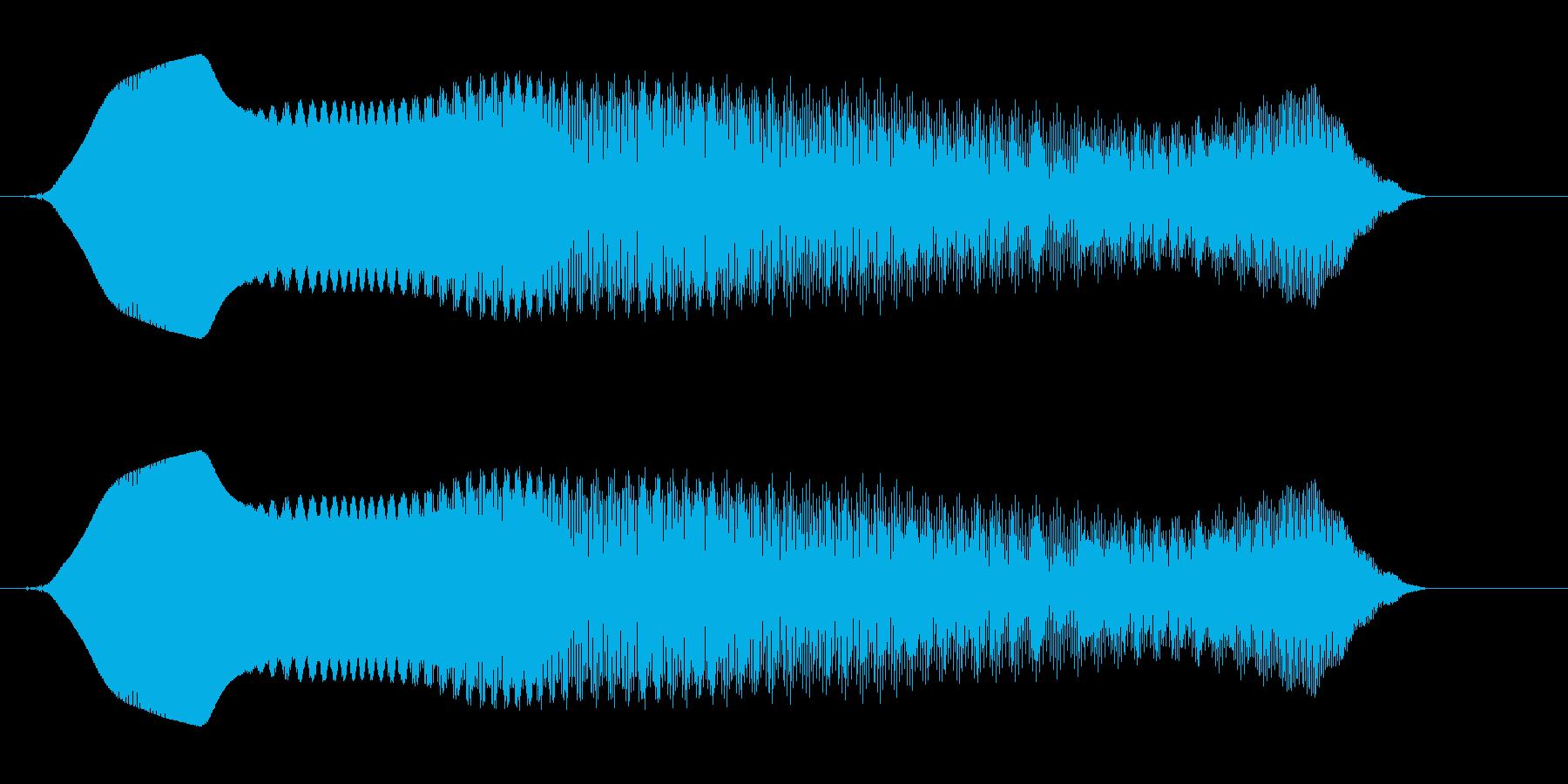 キュワワーン(ダメージを受ける)の再生済みの波形