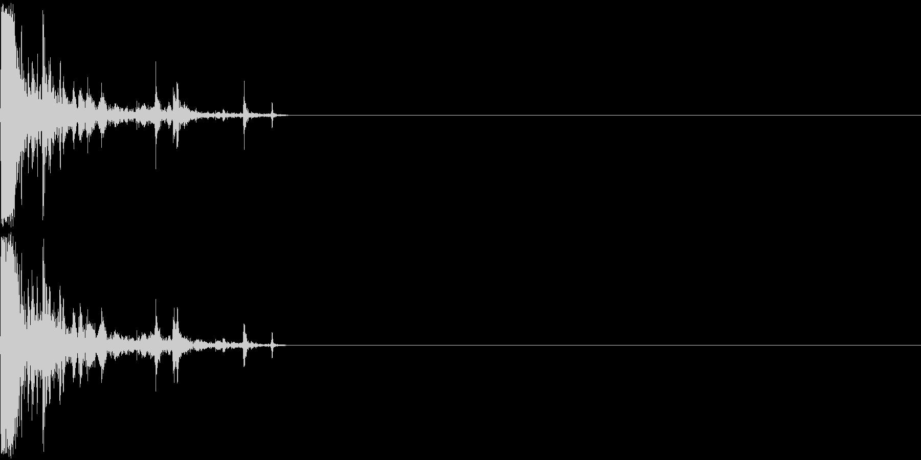 レッグスナップの未再生の波形