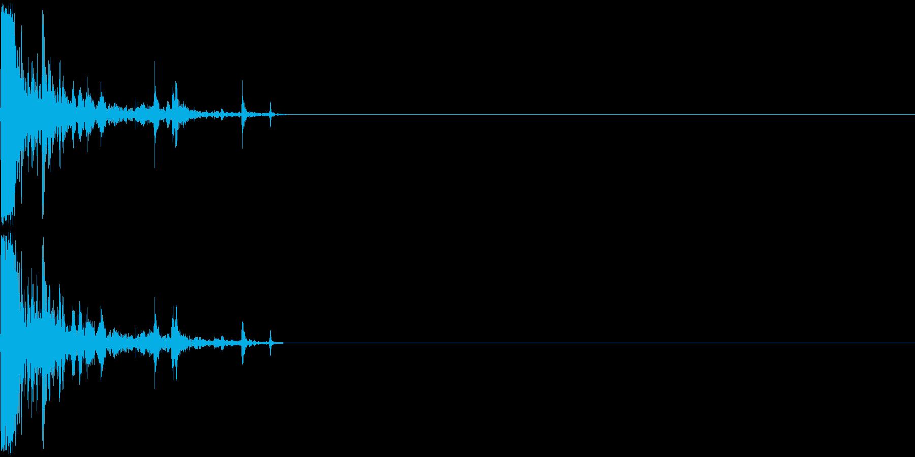 レッグスナップの再生済みの波形