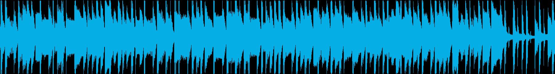 かわいい作業中BGMテクノポップの再生済みの波形