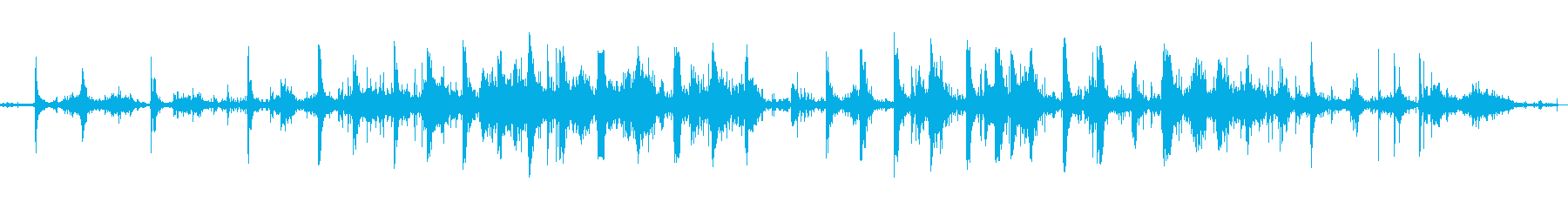 足跡が流れを流れるの再生済みの波形