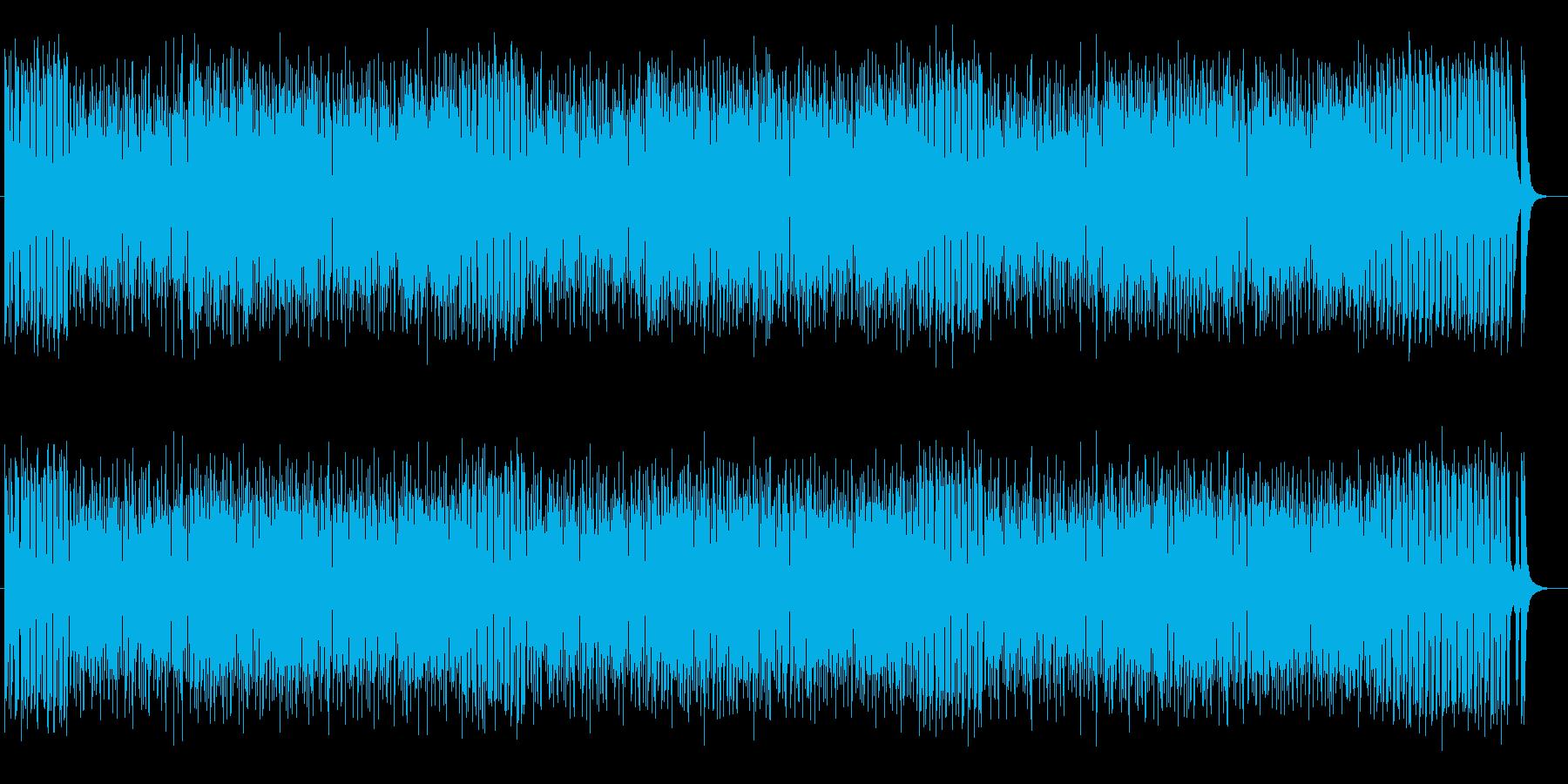 明るく爽やかなミュージックの再生済みの波形