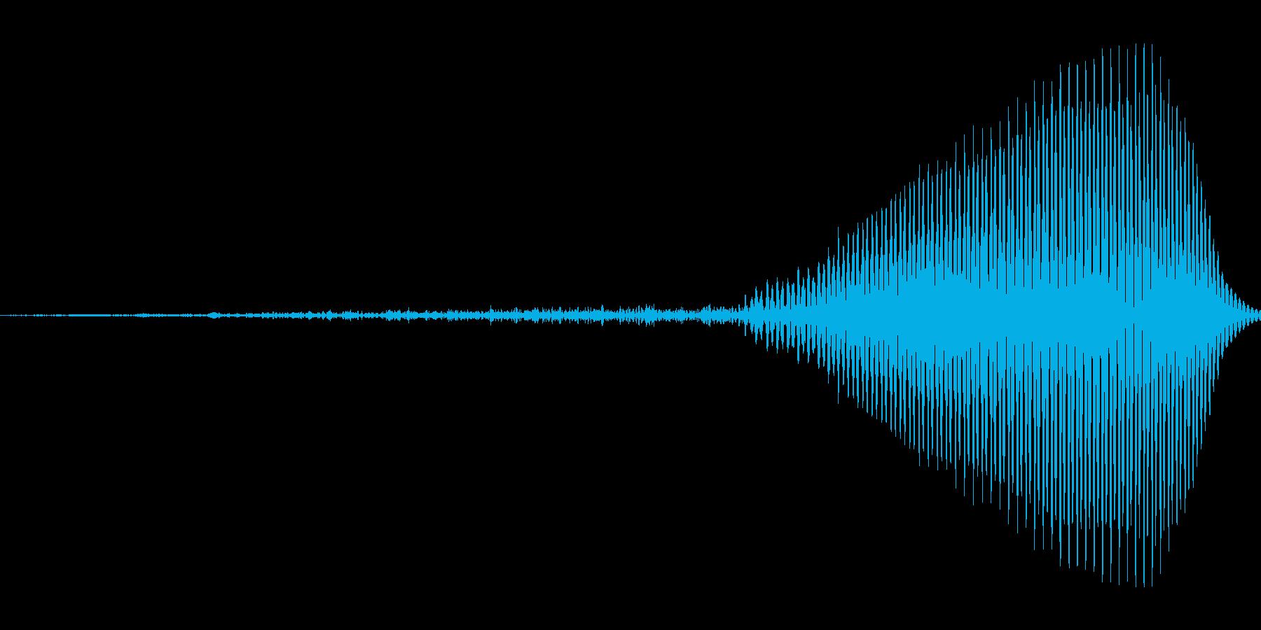 ふっ!【攻撃、掛け声】の再生済みの波形