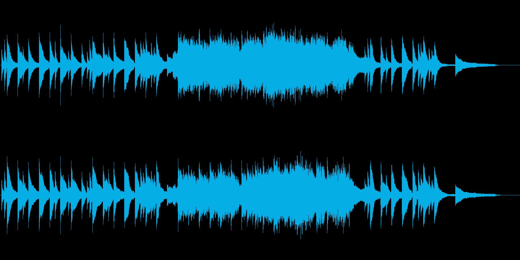感傷的なシーンを想定した優しいBGMの再生済みの波形