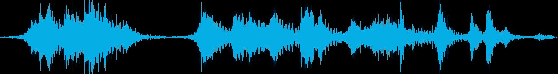 サブスペースガス爆発の再生済みの波形