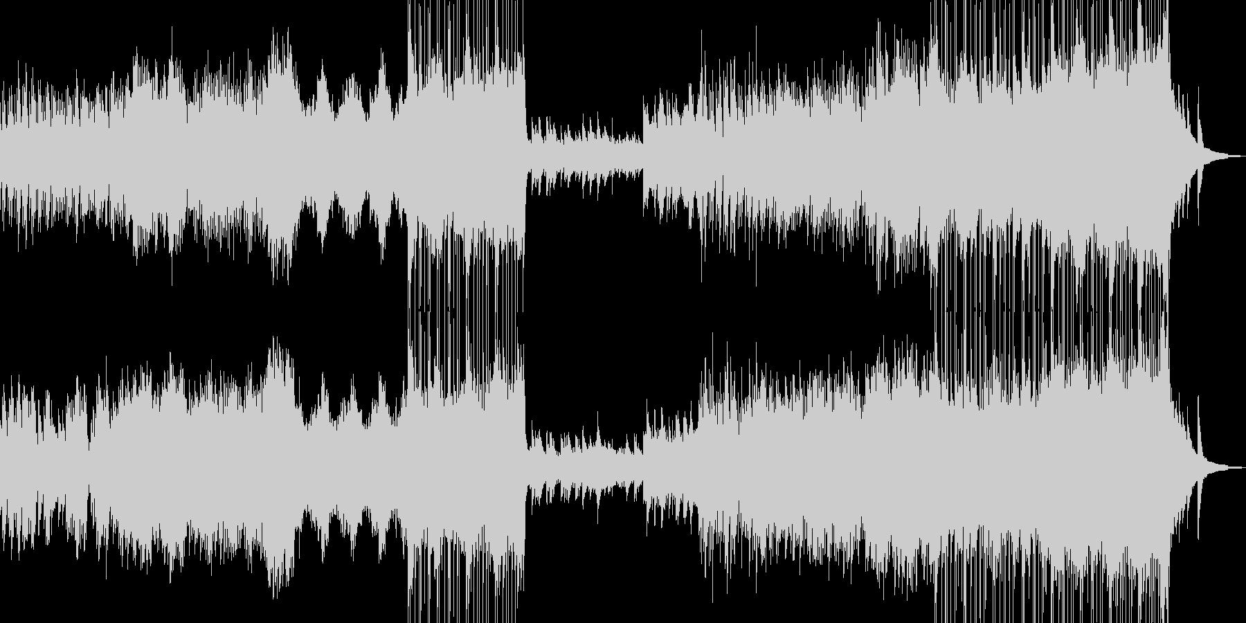 哀愁を帯びた雪景色イメージ ドラム有★の未再生の波形