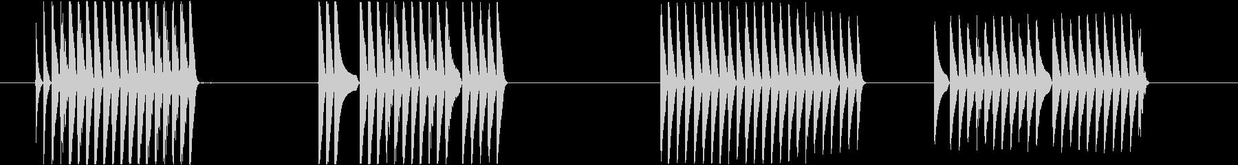 トーンラピッドランダムバーストの未再生の波形