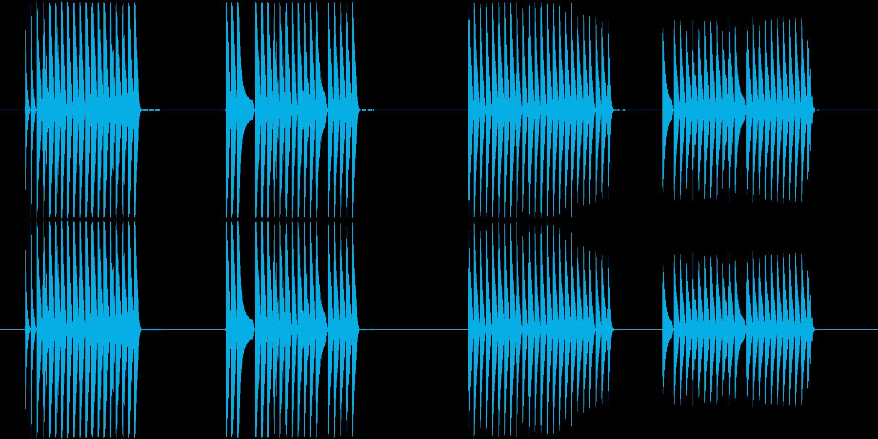 トーンラピッドランダムバーストの再生済みの波形