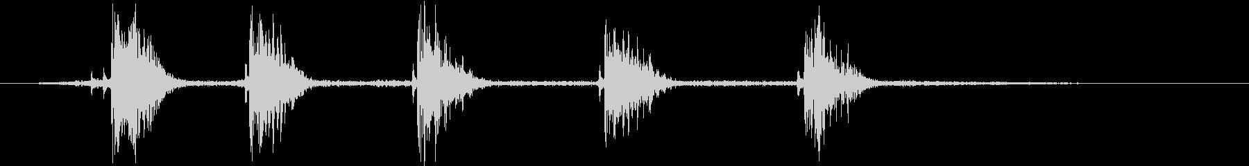タゴガエルの鳴き声(ソロ/1コーラス)の未再生の波形