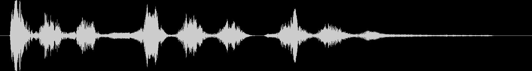 ジャーマンシェパード:Barえるとうなるの未再生の波形