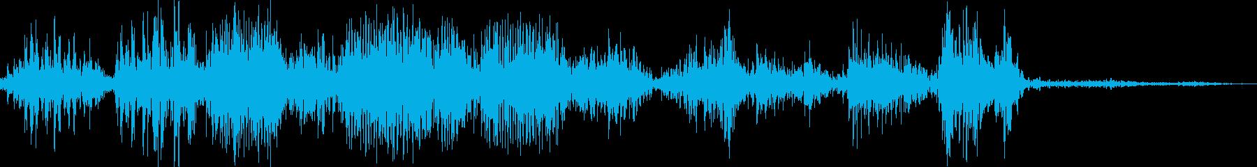 ライオンの大ゲンカ(群れ同士)の再生済みの波形